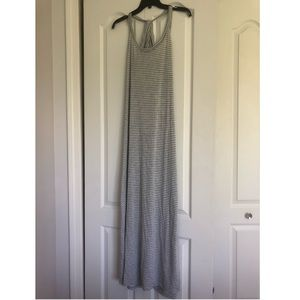 White and Grey stripped long dress